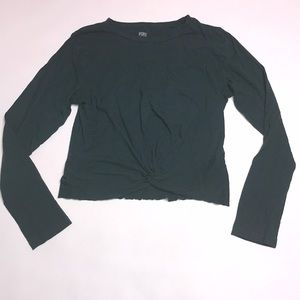 Pink by Victoria's Secret cropped green longsleeve